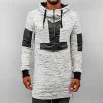 Bangastic PU Long Hoody Light Grey/Black
