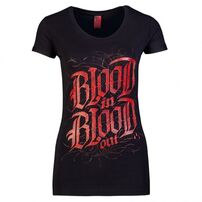 Blood In Blood Out Logo Woman T-shirt Black