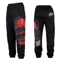 Blood In Blood Out Red Calaveral Sweatpants Black