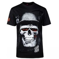 Blood In Blood Out Skull Black Hat Tee