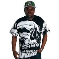 Bsat Big Skull Tee Black