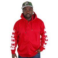 Bsat Crown Bronx Hoodie Red White