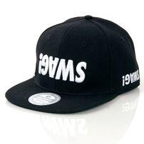 GangstaGroup Basic Swag! Logo Snapback Cap Black
