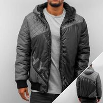 Just Rhyse Quilt Cross Winter Jacket Grey/Black