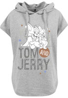 Mr. Tee Ladies Tom & Jerry Sleeveless Hoody grey