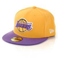 New Era NBA Basic LA Lakers Game Cap Yellow Purple
