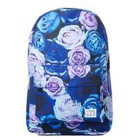 Spiral 21 Roses Backpack Bag Blue