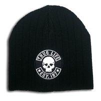 Thug Life Skull Logo Beanie Black