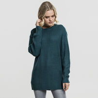 Dámsky sveter Urban Classics Ladies Basic Crew Sweater teal