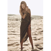 Urban Classics Ladies Viscose Bandeau Dress olive
