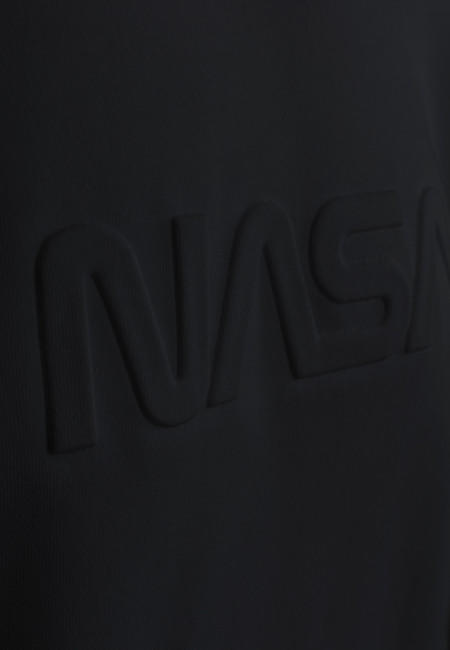 Mr. Tee Embossed NASA Worm Crewneck black