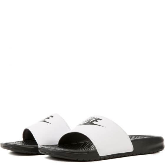 ... Pánské šlapky Nike Benassi Just Do It White Black 343880-100 ... 1570f49b9f3