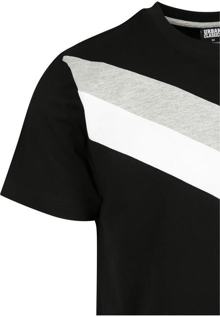 Urban Classics Arrow?Panel Tee black/grey/white
