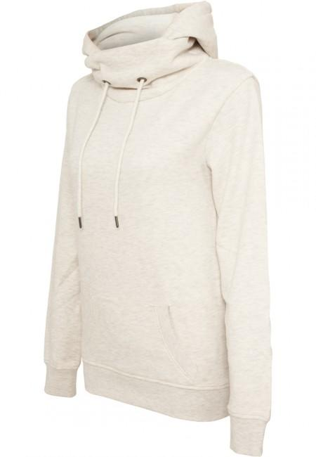 Urban Classics Ladies High Neck Hoody offwhite