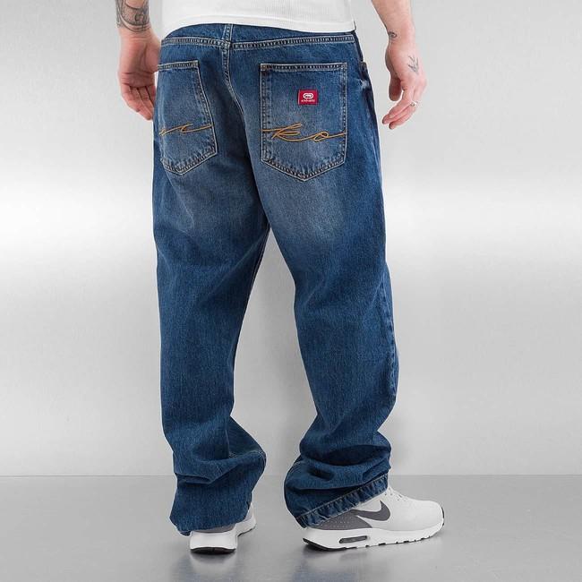 ecko unltd fat bro baggy jeans blue online hip hop fashion store. Black Bedroom Furniture Sets. Home Design Ideas