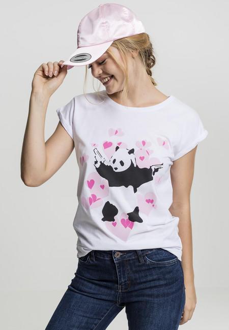 Mr. Tee Ladies Banksy Panda Heart Tee white