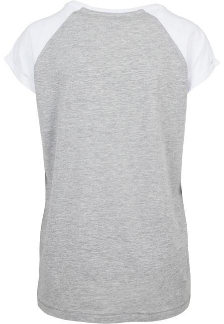 Urban Classics Ladies Contrast Raglan Tee grey/white