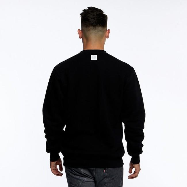 Mass Denim Sweatshirt Crewneck Base Small Logo black