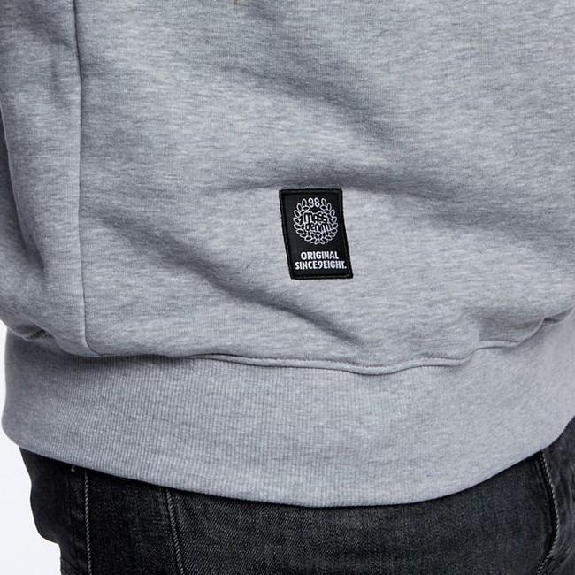 Mass Denim Sweatshirt Crewneck Base Small Logo light heather grey