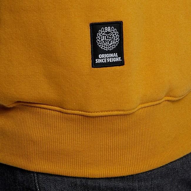 Mass Denim Sweatshirt Crewneck Base Small Logo wheat
