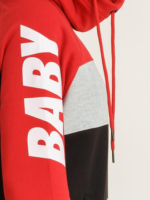 Babystaff Aruna Hoodie - rot/schwarz