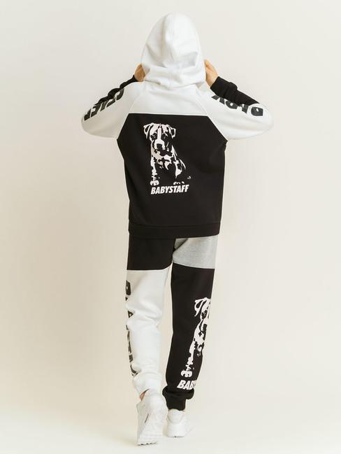 Babystaff Aruna Hoodie - weiß/schwarz