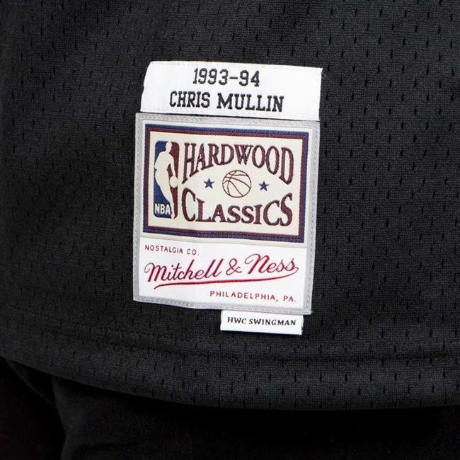 Mitchell & Ness Golden State Warriors #17 Chris Mullin black Swingman Jersey