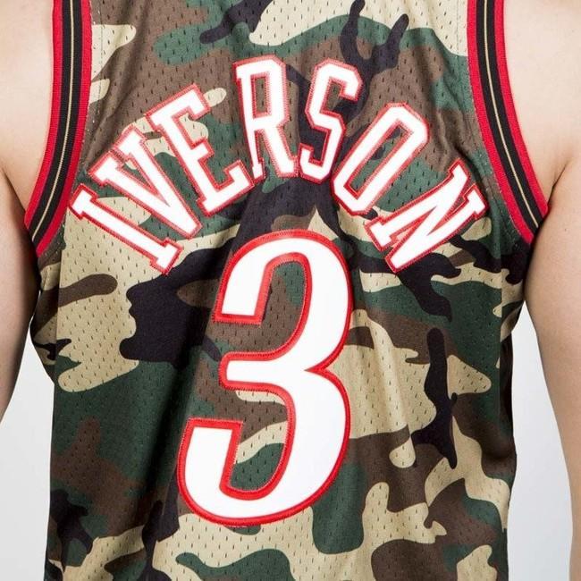 Mitchell & Ness Philadelphia 76ers #3 Allen Iverson camo Swingman Jersey
