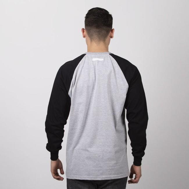 Mass Denim Classics Small Logo Longsleeve light heather grey / black
