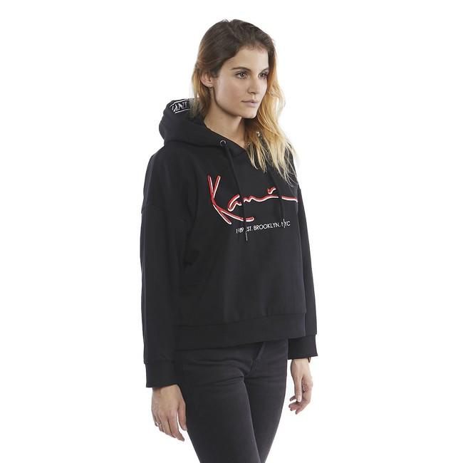 WMNS Sweatshirt Karl Kani Signature Tape Block Hoodie black/red