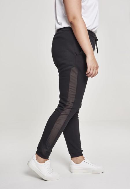 Urban Classics Ladies Tech Mesh Side Stripe Sweatpants black