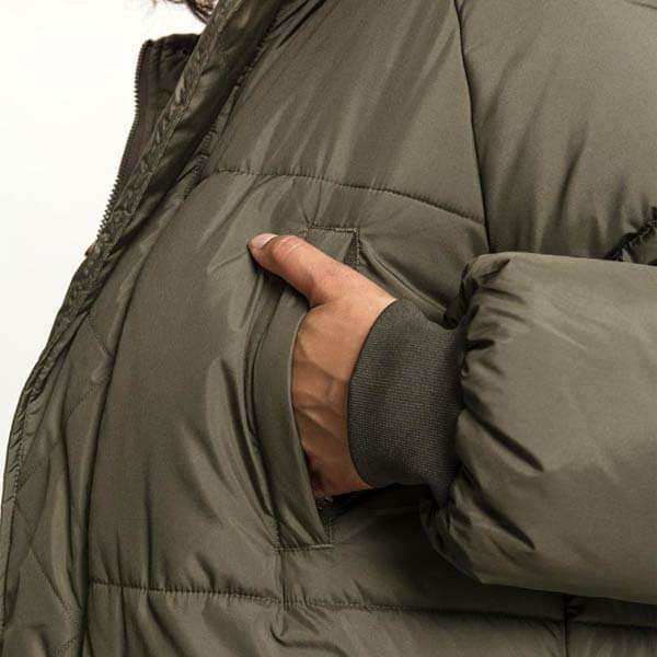 ... Urban Classics Ladies Oversize Faux Fur Puffer Coat darkolive beige ... db8439e2aa3