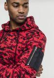 Urban Classics Sweat Camo Bomber Hoody red camo