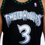 Mitchell & Ness Minnesota Timberwolves #3 Stephen Marbury black Swingman Jersey