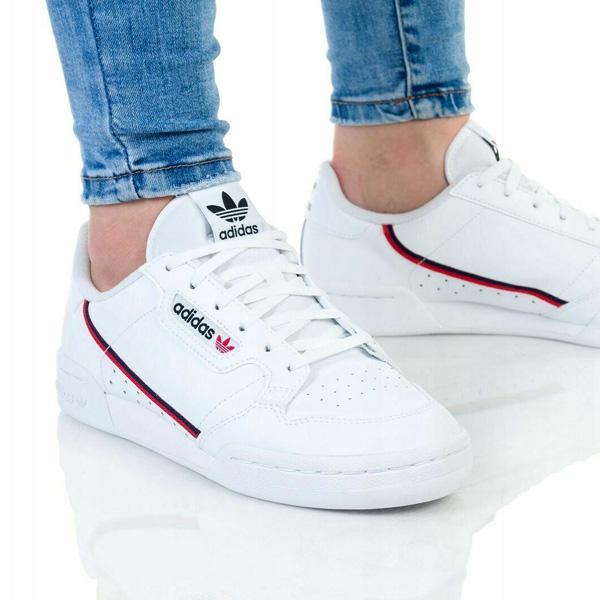 Detské tenisky Adidas Continental 80 Junior White - 38 - 5.5 - 5 - 22.9 cm