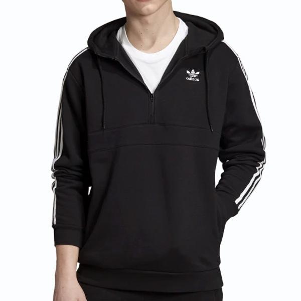 Adidas Originals 3-Stripes Zip Hoodie Black - M