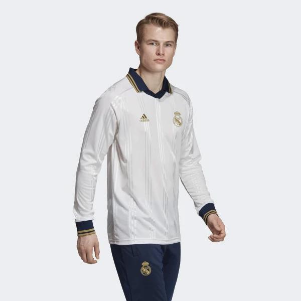 Tričko s dlhým rukávom Adidas Real Madrid Icons Tee White - M
