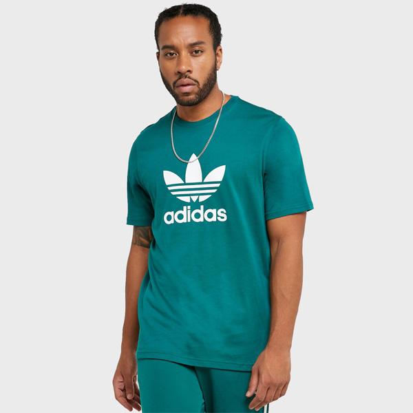 Pánské Tričko Adidas Trefoil Tee Green - XL