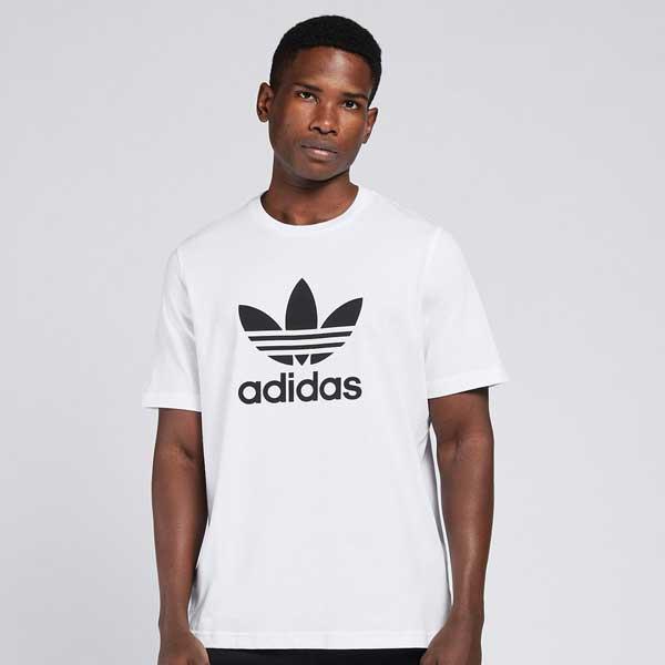 Pánské Tričko Adidas Trefoil Tee White - M