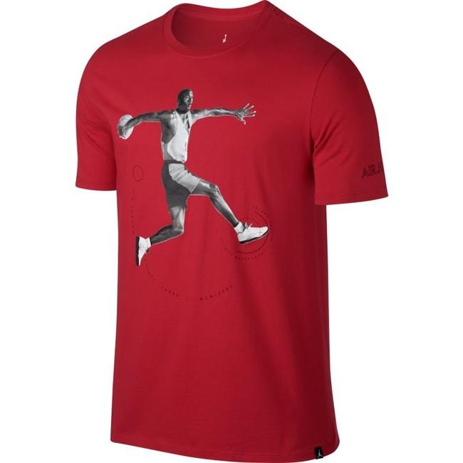 Air Jordan 5 T-shirt Red 864923-657 - XL