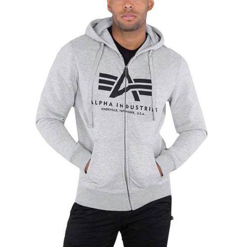 Pánska mikina Alpha Industries Basic Zip Hoody Grey