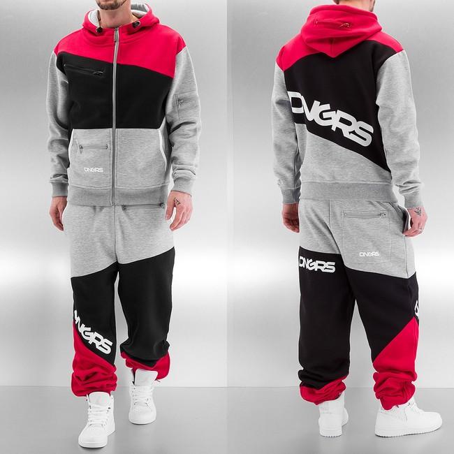 Dangerous DNGRS Sweat Suit Grey/Black/Red - M