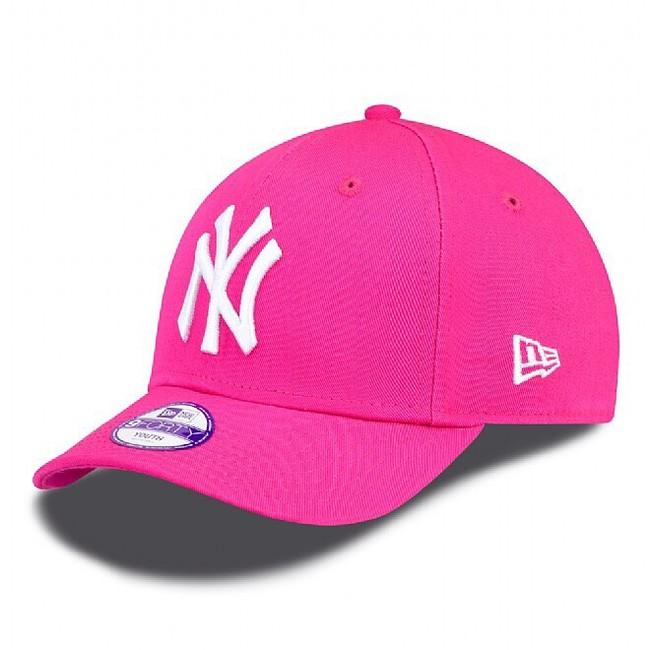 DETSKÁ NEW ERA 9FORTY YOUTH MLB LEAGUE BASIC NEW YORK YANKEES PINK WHITE - UNI