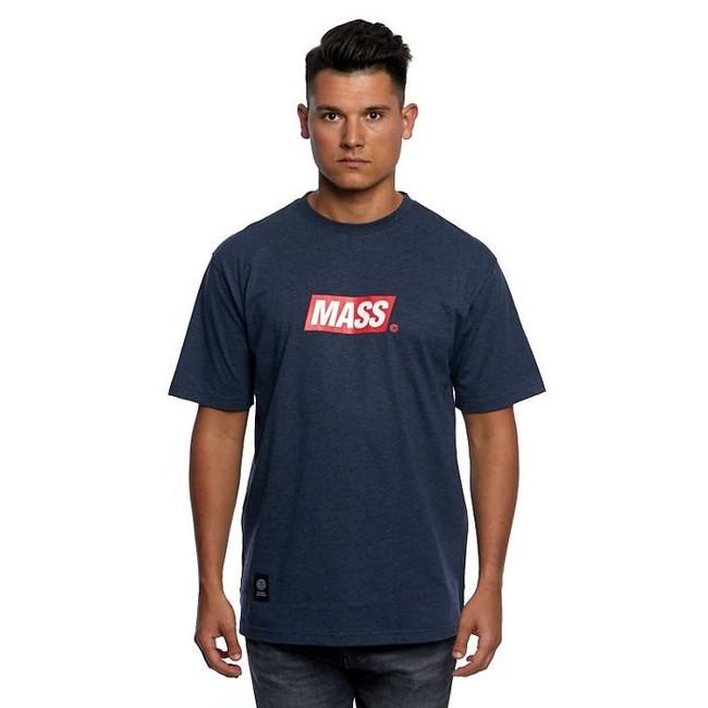 Mass Denim Big Box Medium Logo T-shirt heather navy - S