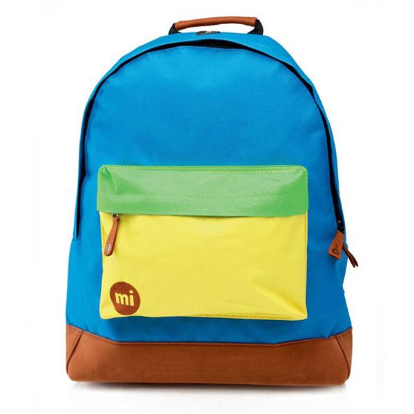 Mi-Pac Classic Tri-Tone Backpack Blue Yellow Green - UNI