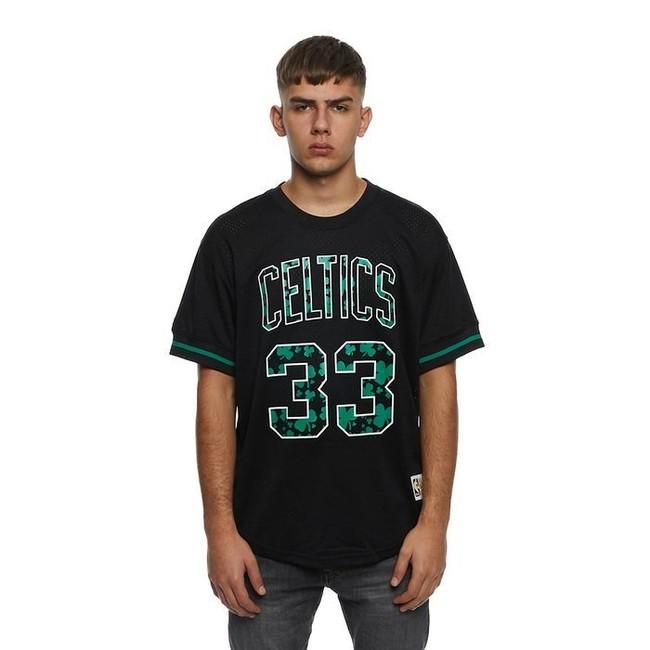 Mitchell & Ness Boston Celtics #33 Larry Bird black Name & Number Mesh Crewneck - M