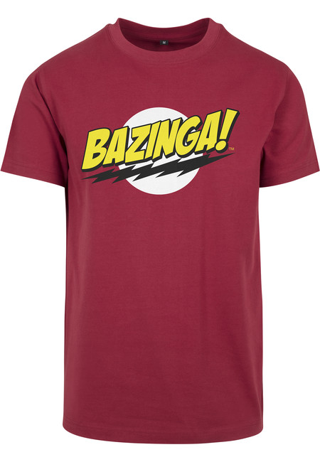 Mr. Tee Big Bang Theory Bazinga Tee burgundy - XS