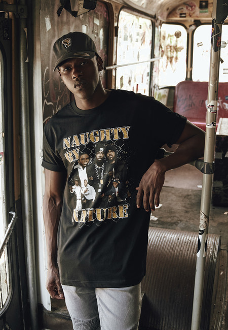 Mr. Tee Naughty by Nature 90s Tee black - M