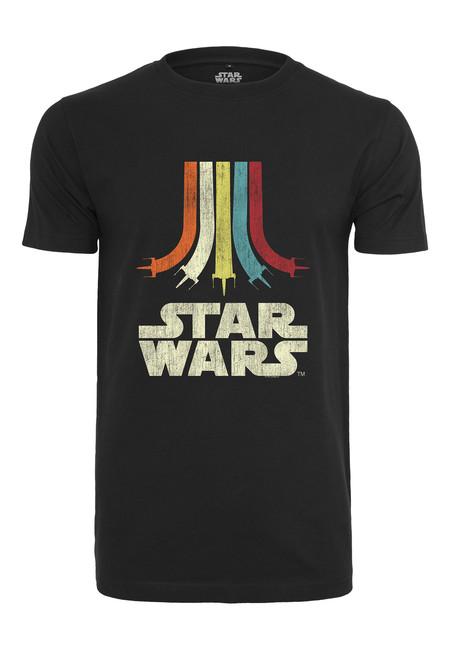 Mr. Tee Star Wars Rainbow Logo Tee black - S