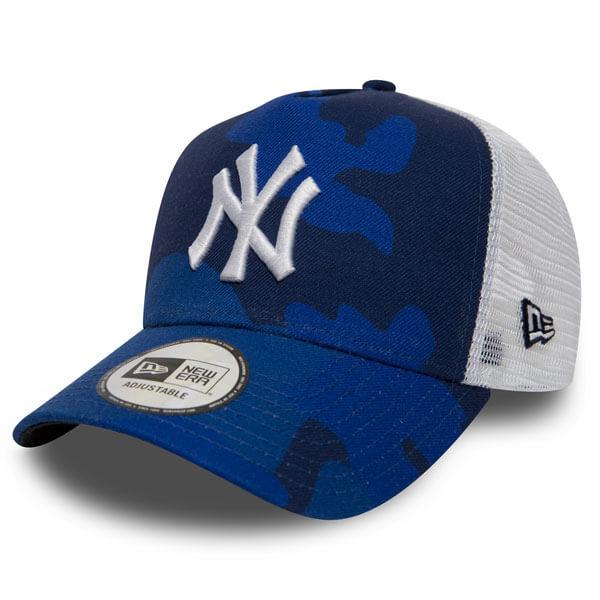 Šiltovka New Era 9Forty A Frame Trucker MLB Camo NY Yankees Blue